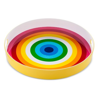 15in Melamine Round Serving Tray - Rainbow