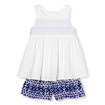 Toddler Girls' Morocco Top and Short-short Set White 2T - Cherokee®