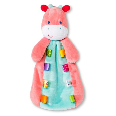 Taggies Security Blanket with Giraffe Plush - Turquoise/Pink