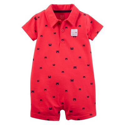 Just One You™Made by Carter's® Baby Boys' Crab Print Knit Romper - Red 3M