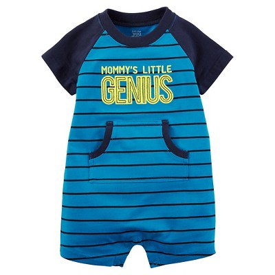 Just One You™Made by Carter's® Baby Boys' Mommy's Little Genius Romper - Blue NB