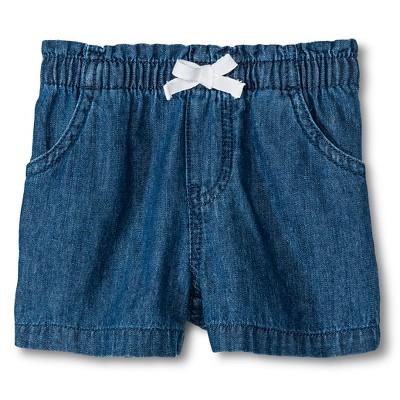 Baby Girls' Denim Jean Short Blue 18M - Circo™