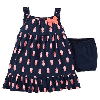Just One You™Made by Carter's® Baby Girls' Pineapple Dress - Navy/Pink 12M