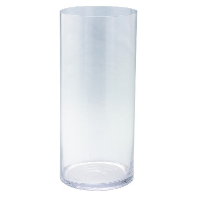 Glass Cylinder Vase - Diamond Star