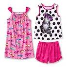 Girls' Kitty 3-Piece Pajama Set - Multi-Colored