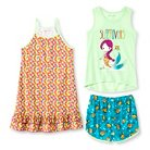 Komar Kids Girls' Fish 3-Piece Pajama Set - Multi-Colored