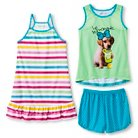 Girls' Doggy 3-Piece Pajama Set - Multi-Colored