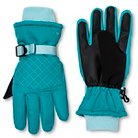 Girls' C9 Champion® Fleece Lined Ski Gloves - Turquoise 4-7