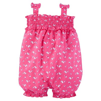 Just One You™Made by Carter's® Baby Girls' Print Smocked Romper - Pink 9M