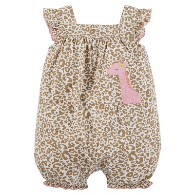 Just One You™Made by Carter's® Baby Girls' Giraffe Print Ruffle Romper NB