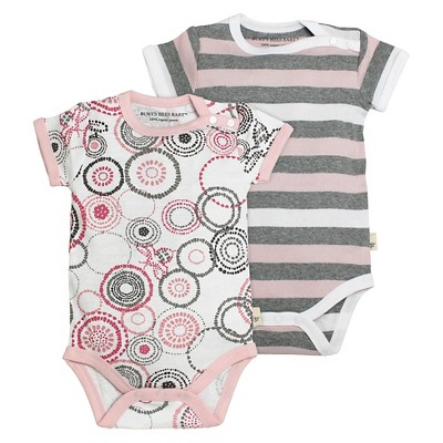 Burt's Bees Baby™ Newborn Girls' 2 Piece Bodysuits - Pink 3-6M