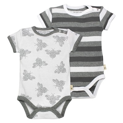 Burt's Bees Baby™ Newborn 2 Piece Bodysuits - Heather Grey NB