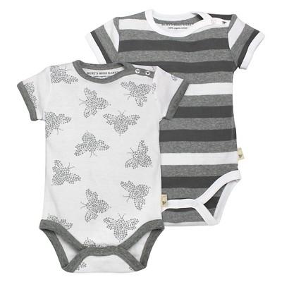 Burt's Bees Baby™ Newborn 2 Piece Bodysuits - Heather Grey 6-9M