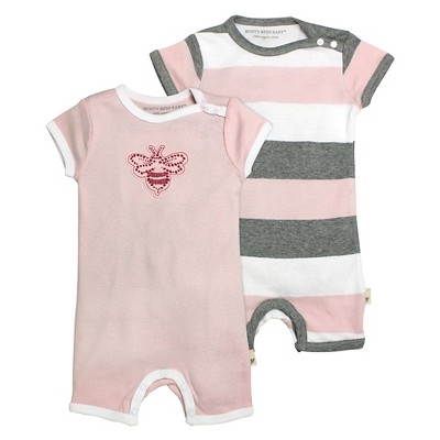 Burt's Bees Baby™ Baby Girls' 2 Piece Shortall Set - Pink NB
