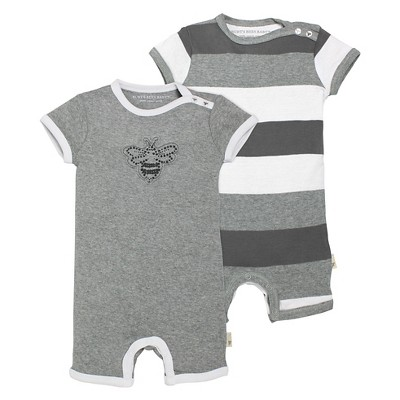 Burt's Bees Baby™ Baby 2 Piece Shortall Set - Heather Grey 3-6 M