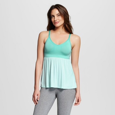 Women's Nursing Fluid Knit Sleep Cami Aqua S - Gilligan & O'Malley™