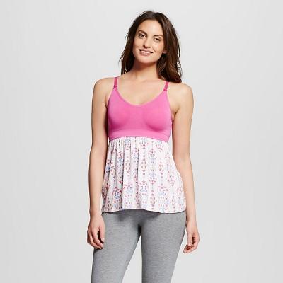 Women's Nursing Fluid Knit Sleep Cami Pink Scroll XL - Gilligan & O'Malley™