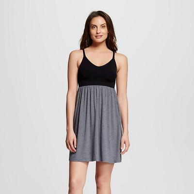 Women's Nursing Fluid Knit Sleep Chemise Black XL - Gilligan & O'Malley™