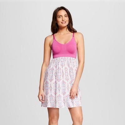 Women's Nursing Fluid Knit Sleep Chemise Pink Scroll L - Gilligan & O'Malley™