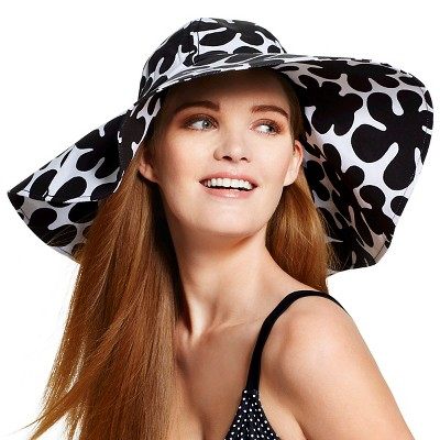 Marimekko for Target Women's Canvas Hat - Paprika Print - Black