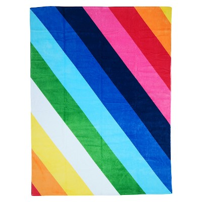 Stripe Beach Towel for Two - Multi-Colored
