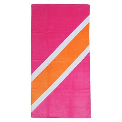 Stripe Beach Towel Pink - Evergreen