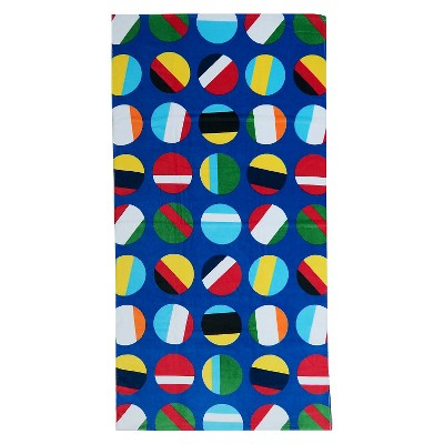 Dots Beach Towel Multi-Colored - Evergreen