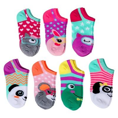 Girls' Animal 7-Pack Low Cut Sock Multicolored 5.5-8.5 - Circo™