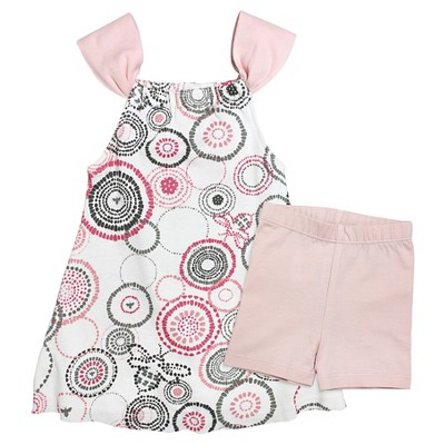 Burt's Bees Baby™ Baby Girls' Dress & Short Set - Pink NB