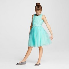Lots of Love Girls' Fit and Flare Dress - Blue