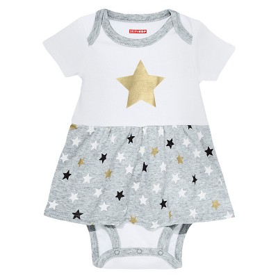 Skip Hop Baby Star Struck Short Sleeve A Line Dress - Cloud 6M