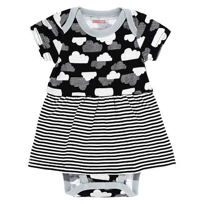 Skip Hop Baby Star Struck Short Sleeve Skirted Bodysuit - Cloud NB