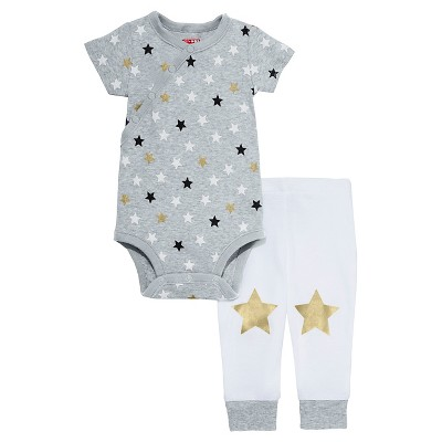 Skip Hop Baby Star Struck Short Sleeve Bodysuit & Pant Set - Stars NB