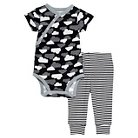 Skip Hop Baby Star Struck Short Sleeve Bodysuit & Pant Set - Cloud