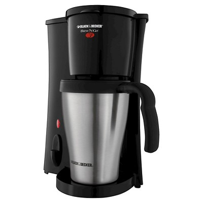 BLACK + DECKER Brew 'n Go Personal Coffee Maker and 15-oz Travel Mug