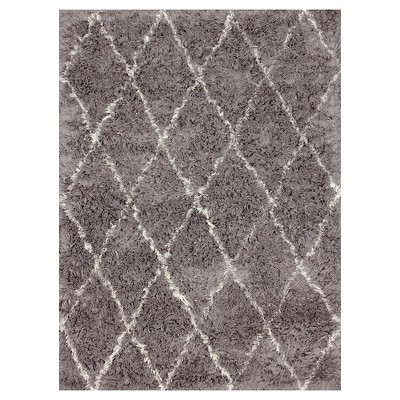 nuLOOM 100% Wool Hand Made Marrakech Shag Area Rug - Gray (5' x 7')