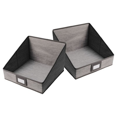 2pk Closet Organizer Drawers Gray Birch  - Threshold™