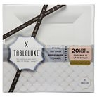 Tableluxe Small Square Snack Plates, White 20ct