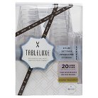 Tableluxe Luxe Cups with Swizzle Sticks, 12 oz. Clear 20ct