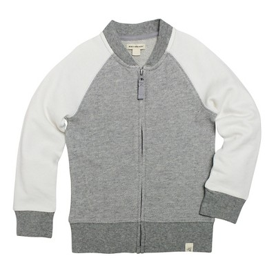 Burt's Bees Baby Infant Boys' Baseball Jacket - 3-6M Heather Grey