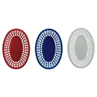 Evergreen 6 Piece Serving Platters - Red, White & Blue