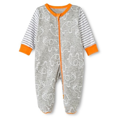 Boppy Elephant Sleep N' Play with Two Way Zipper - NB Grey