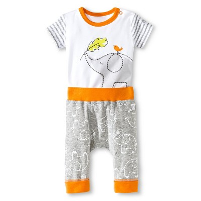 Boppy Elephant 2 Piece Pant Set - NB Grey