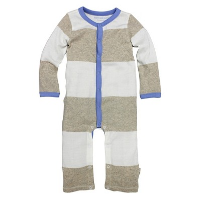 Burt's Bees Baby Infant Boys' Coverall - 0-3M Striped