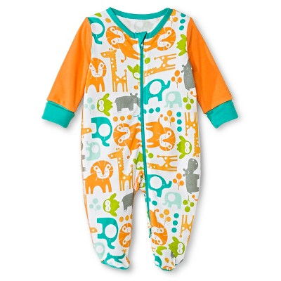 Boppy Lion Sleep N' Play with Two Way Zipper - NB White/Orange