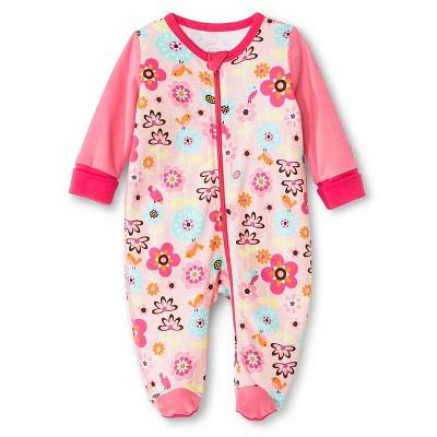 Boppy Backyard Bloom Sleep N' Play with Two Way Zipper - NB Pink