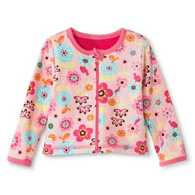 Boppy 2 Ply Backyard Bloom Reversible Jacket - 3M Pink