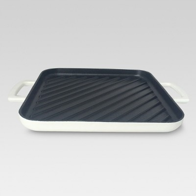 10 Inch Cast Iron Square Grill Pan - Threshold™