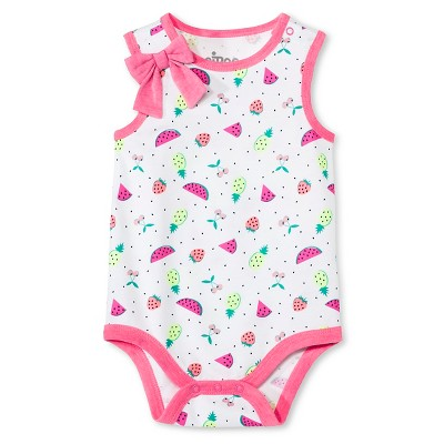 Circo™ Baby Girls' Bodysuit - Navy Heart Print 3-6 M
