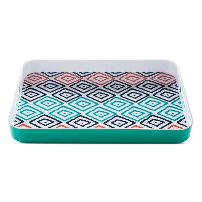 Plastic Rectangular Serving Tray Green